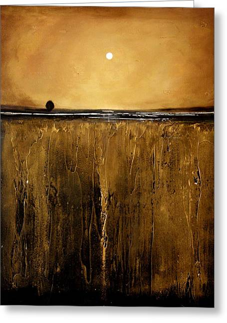 Minimalist Landscape Greeting Cards - Golden Inspirations Greeting Card by Toni Grote