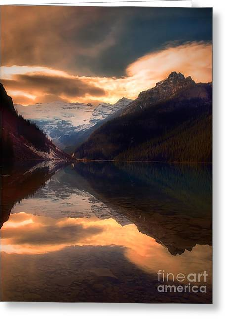 Golden Light On The Rockies Greeting Card by Tara Turner