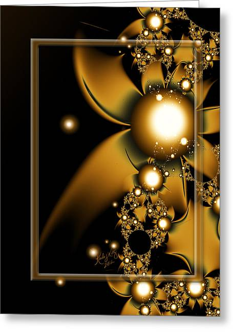 Karlajkitty Digital Art Greeting Cards - Golden Luxury Greeting Card by Karla White