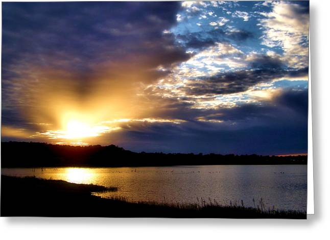 Vacation Digital Art Greeting Cards - Golden Moment Greeting Card by Karen M Scovill