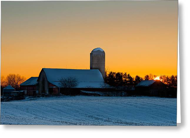 Rural Indiana Greeting Cards - Golden Morning Greeting Card by F Lee Photography