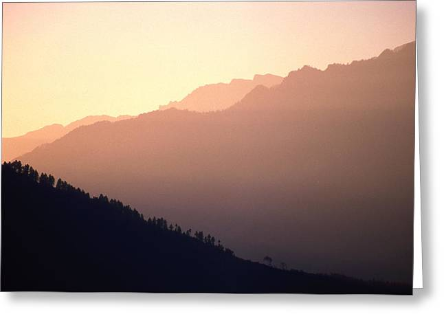 Mountains Nature Greeting Cards - Golden Mountains Greeting Card by Patrick Klauss