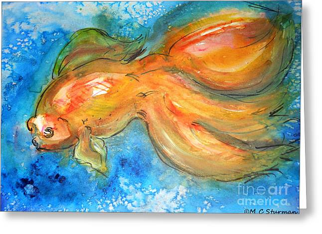 Golden One Greeting Card by M C Sturman