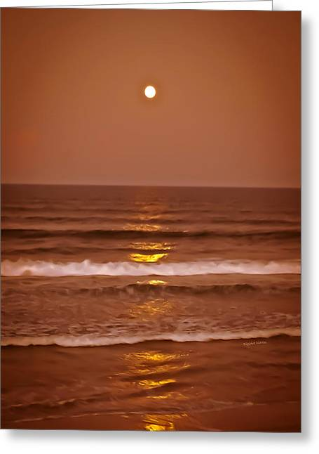 Sienna Greeting Cards - Golden Pathway to the Shore Greeting Card by DigiArt Diaries by Vicky B Fuller