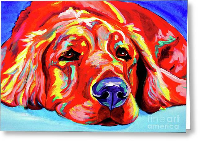 Alicia Vannoy Call Paintings Greeting Cards - Golden Retriever - Ranger Greeting Card by Alicia VanNoy Call