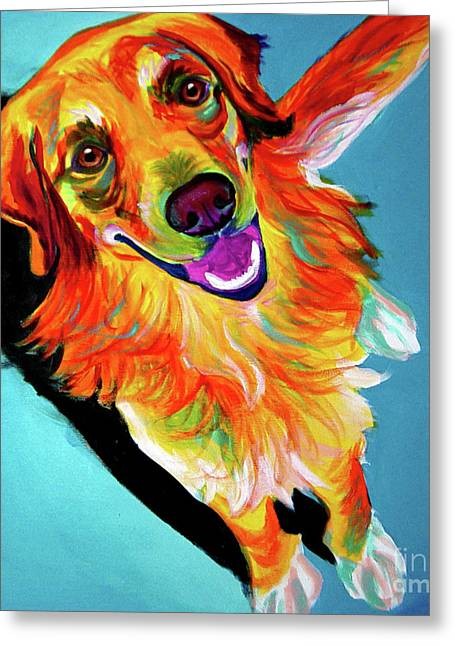 Retriever Prints Greeting Cards - Golden Retriever - Tyler Greeting Card by Alicia VanNoy Call