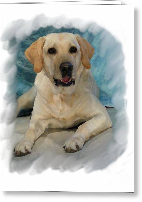 Dogs Digital Greeting Cards - Golden Retriever 190 Greeting Card by Larry Matthews