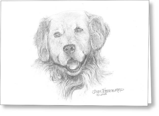 Family Jewelry Greeting Cards - Golden Retriever Greeting Card by Jim Hubbard