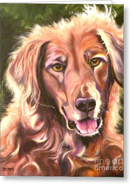 Retriever Prints Drawings Greeting Cards - Golden Retriever More Than You Know Greeting Card by Susan A Becker