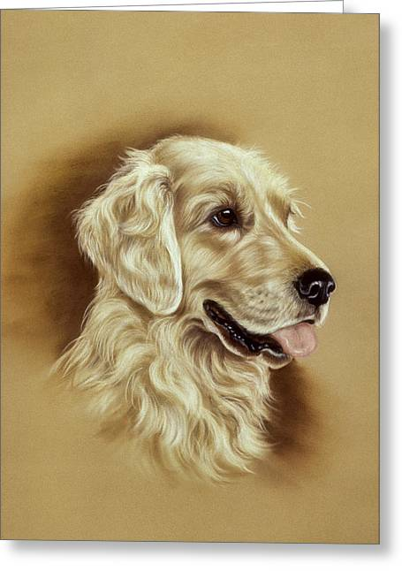 Hunting Bird Pastels Greeting Cards - Golden Retriever Greeting Card by Patricia Ivy