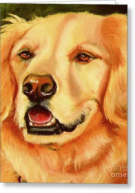 Retriever Prints Drawings Greeting Cards - Golden Retriever Sweet As Sugar Greeting Card by Susan A Becker