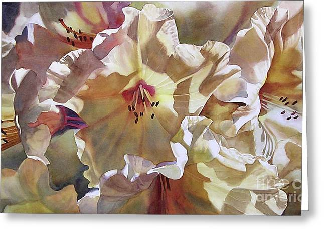 Rhododendron Greeting Cards - Golden Rhododendron Greeting Card by Sharon Freeman