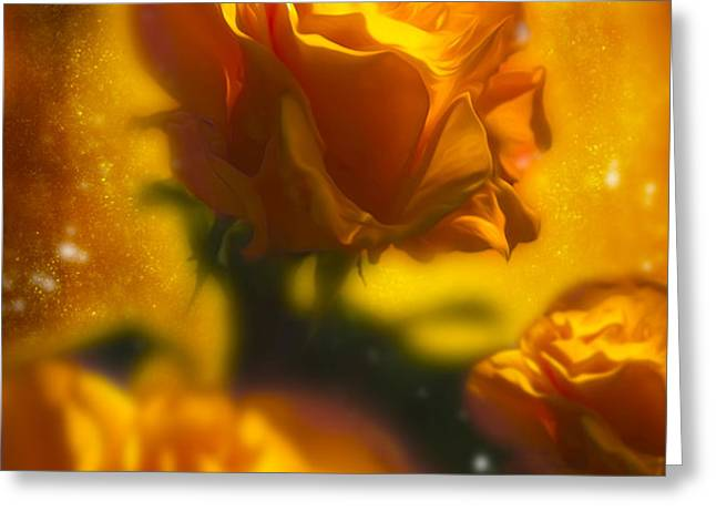 Golden Roses Greeting Card by Svetlana Sewell