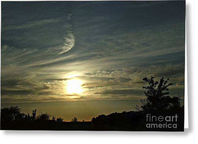 Clounds Greeting Cards - Golden skys 2 Greeting Card by Scott B Bennett