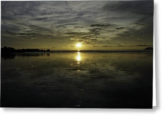 Golden Sunset 7188 Greeting Card by Sortarivs Arts