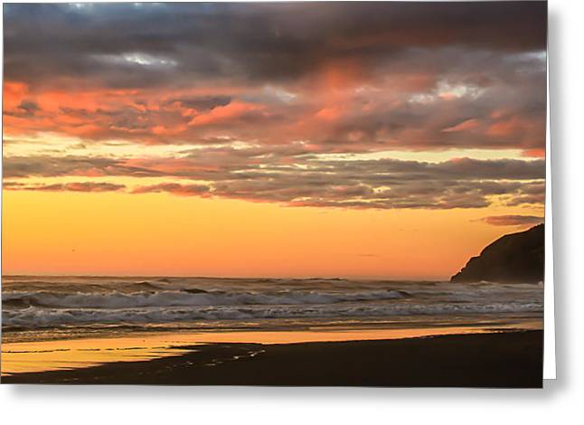 Aid To Navigation Greeting Cards - Golden Sunset Greeting Card by Robert Bales