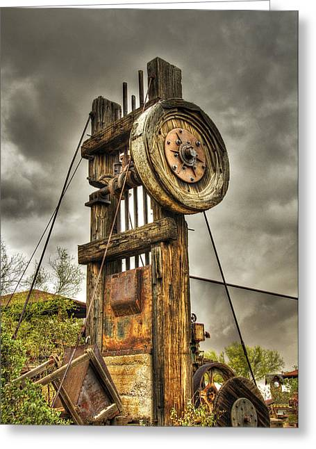Historic Architecture Greeting Cards - Goldfield Ghost Town - Mining Camp Greeting Card by Saija  Lehtonen