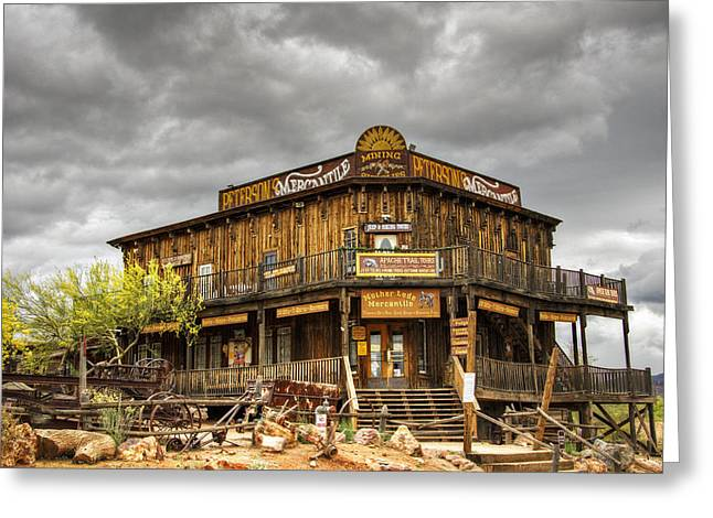 Peterson Greeting Cards - Goldfield Ghost Town - Petersons Mercantile  Greeting Card by Saija  Lehtonen