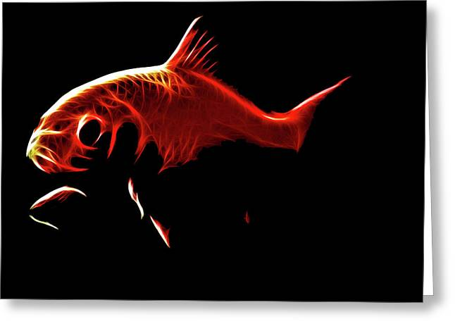 Goldfish 1 Greeting Card by Tilly Williams
