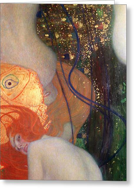 Art Nouveau Paintings Greeting Cards - Goldfish Greeting Card by Gustav Klimt