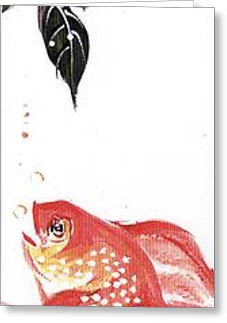 Linda Smith Greeting Cards - Goldfish Greeting Card by Linda Smith