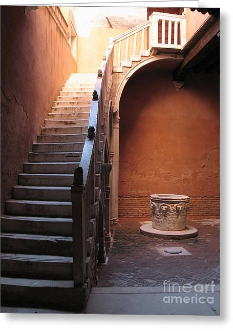 Italie Greeting Cards - Goldoni House. Venice Greeting Card by Bernard Jaubert