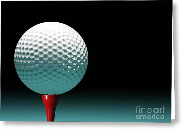 Golf Ball Greeting Card by Gualtiero Boffi