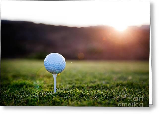 Spring Training Photographs Greeting Cards - Golf ball Greeting Card by Kati Molin