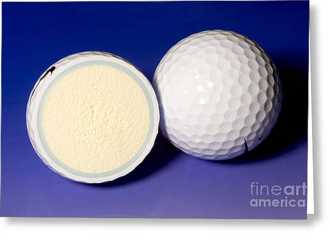 Golf Design Greeting Cards - Golf Balls Greeting Card by Ted Kinsman