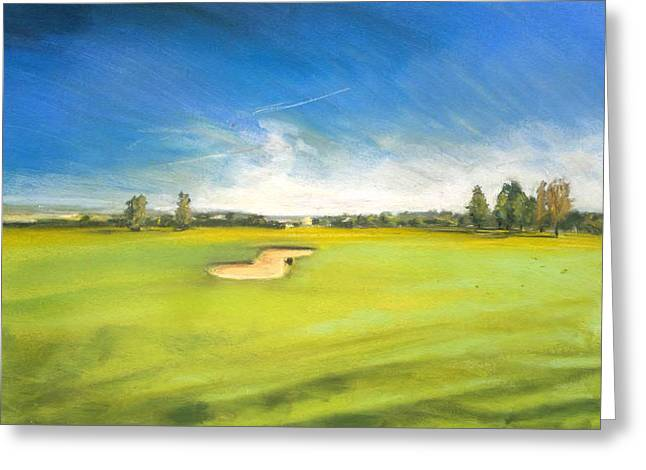 Driving Pastels Greeting Cards - Golf Course 2 Greeting Card by Paul Mitchell