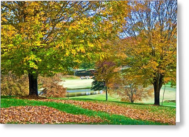 Susan Leggett Digital Greeting Cards - Golf Course Digital Art Greeting Card by Susan Leggett