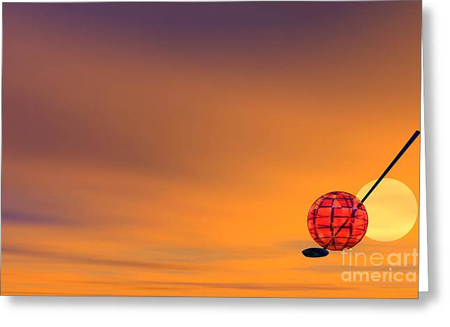 Golf Of Planet Greeting Card by Odon Czintos