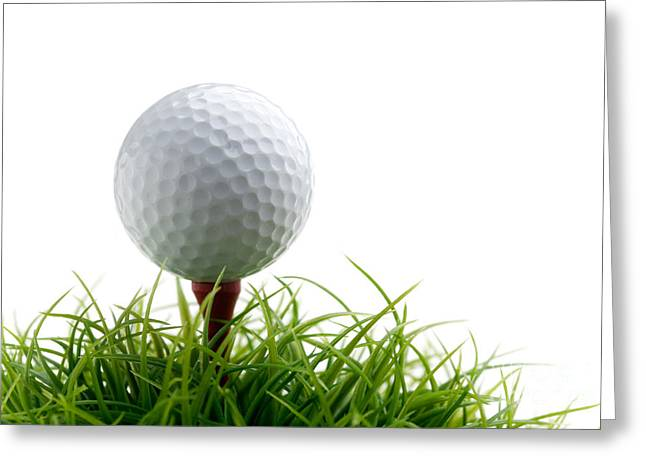 Ball Games Greeting Cards - Golfball Greeting Card by Kati Molin