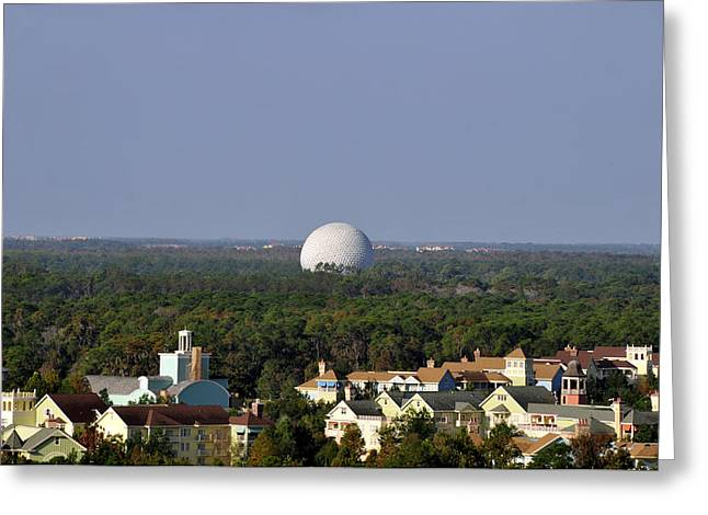 Geodesic Dome Greeting Cards - Golfing Florida Style Greeting Card by David Lee Thompson