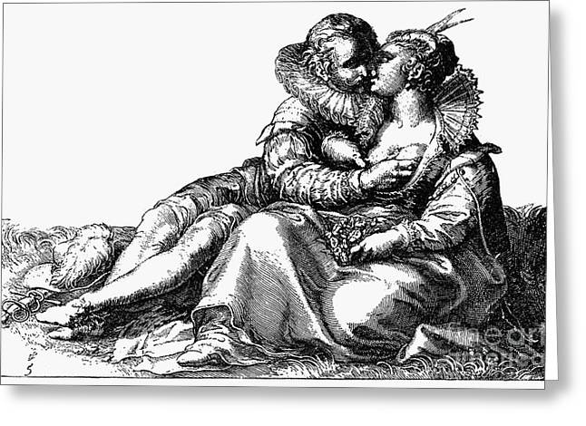 Love Game Greeting Cards - Goltzius: Love Games Greeting Card by Granger