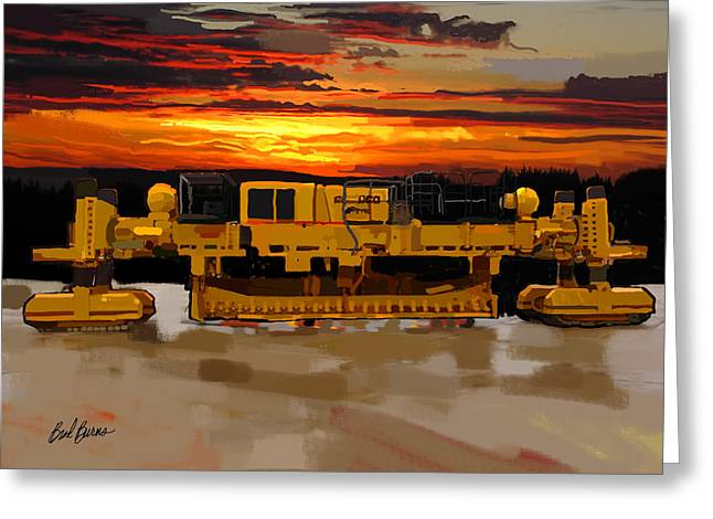 Underground Utilities Greeting Cards - Gomaco Slip Form Paver Greeting Card by Brad Burns
