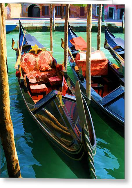 Gondola Greeting Card by Photography Art