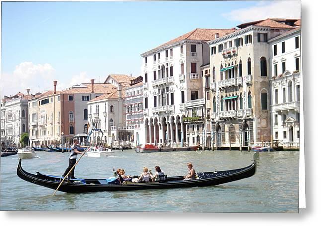Gondola In Venice Greeting Card by Jessica Estrada