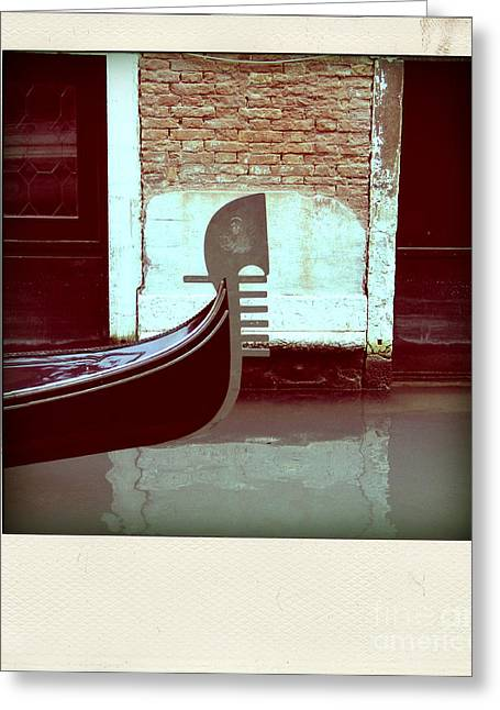 Gondolier Photographs Greeting Cards - Gondola.Venice.Italy Greeting Card by Bernard Jaubert