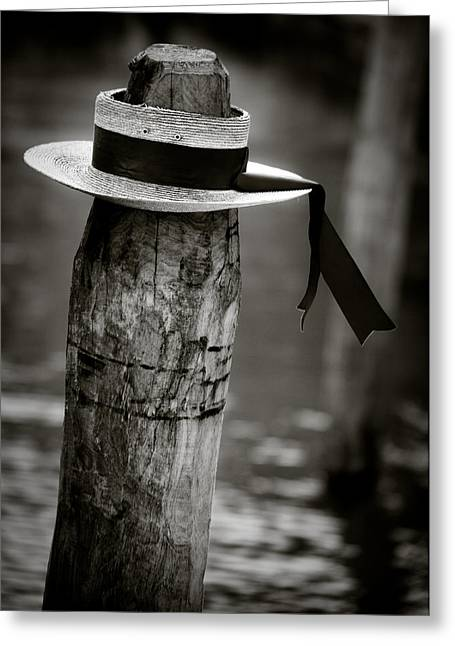 Attire Greeting Cards - Gondolier Hat Greeting Card by Dave Bowman