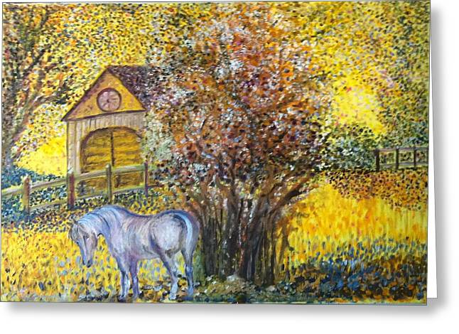 B Russo Greeting Cards - Gondrano and the Animal Farm Greeting Card by B Russo
