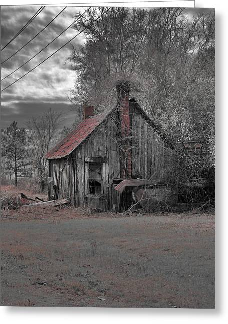 Barn Digital Art Greeting Cards - Gone by Era Greeting Card by Greg Sharpe