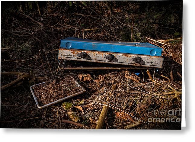 Gone Camping Greeting Card by John Farnan