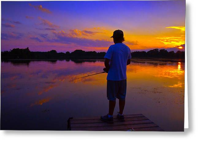 Wisconsin Fishing Greeting Cards - Gone Fishin Greeting Card by Phil Koch