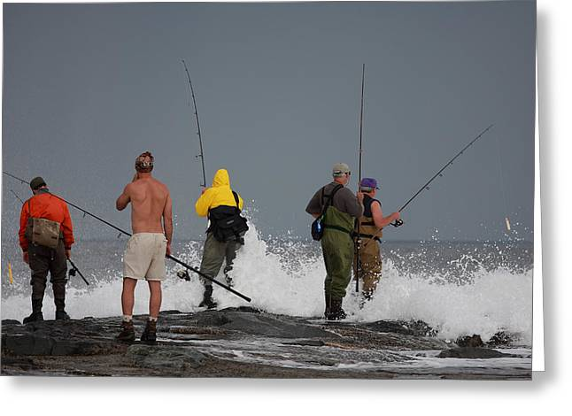 Beaches In Monterey Greeting Cards - Gone Fishing 5 Greeting Card by Boris REYT