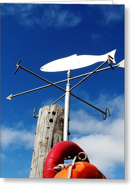 Weathervane Greeting Cards - Gone Fishing Greeting Card by Charlie and Norma Brock