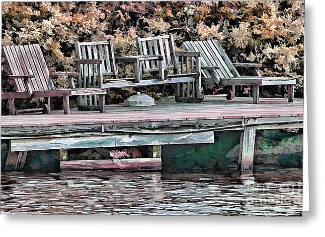Lake Photographs Greeting Cards - Gone Fishing Greeting Card by Tom Prendergast