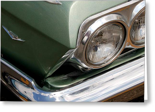 Muscle Car Photographs Greeting Cards - Gone Green Greeting Card by Gabe Arroyo