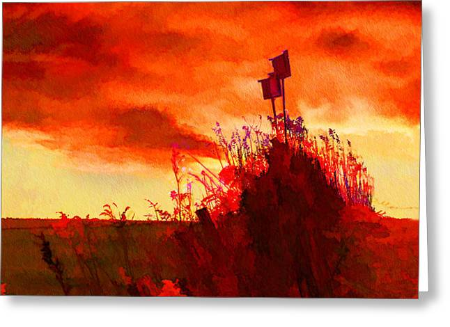 GONE SOUTH Greeting Card by Suni Roveto
