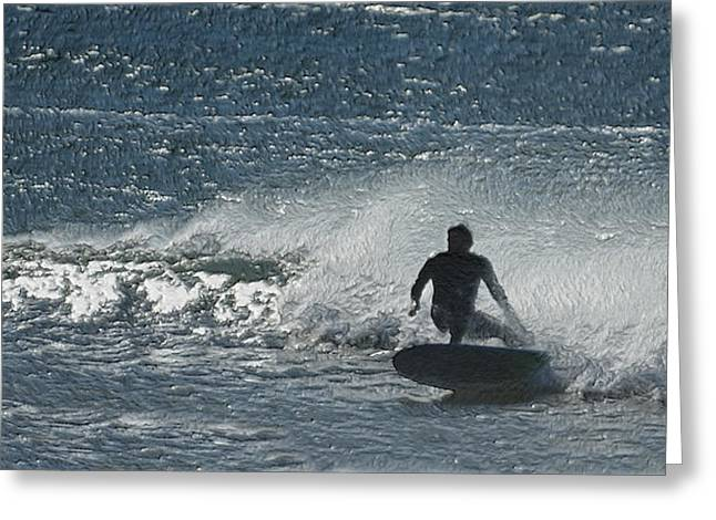 Calif Greeting Cards - Gone Surfing Greeting Card by Ernie Echols